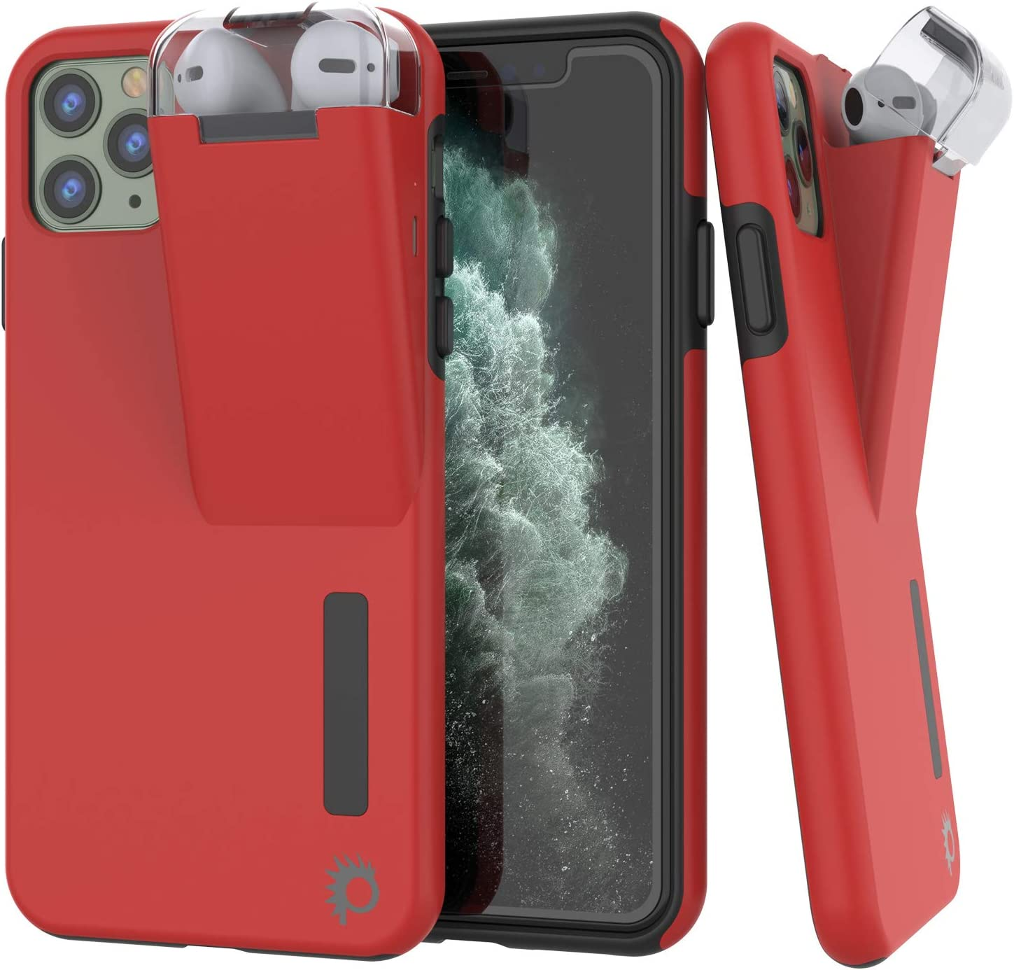 Punkcase iPhone 11 Pro Airpod Charging Case Holder | Slim & Durable 2 in 1 Cover Designed for iPhone 11 Pro (5.8