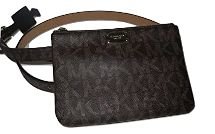 f4116ae96e3f09 Image Unavailable. Image not available for. Color: Michael Kors MK  Signature Belt Wallet Fanny Pack,Travel Leather Medium