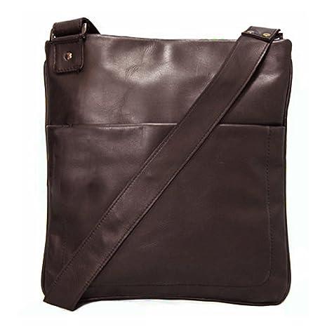 e41669943bd6a BACCINI Umhängetasche Leder Matteo Schultertasche Unisex 11 Zoll Laptop  Handtasche mit Schultergurt echte Ledertasche Damen Herren