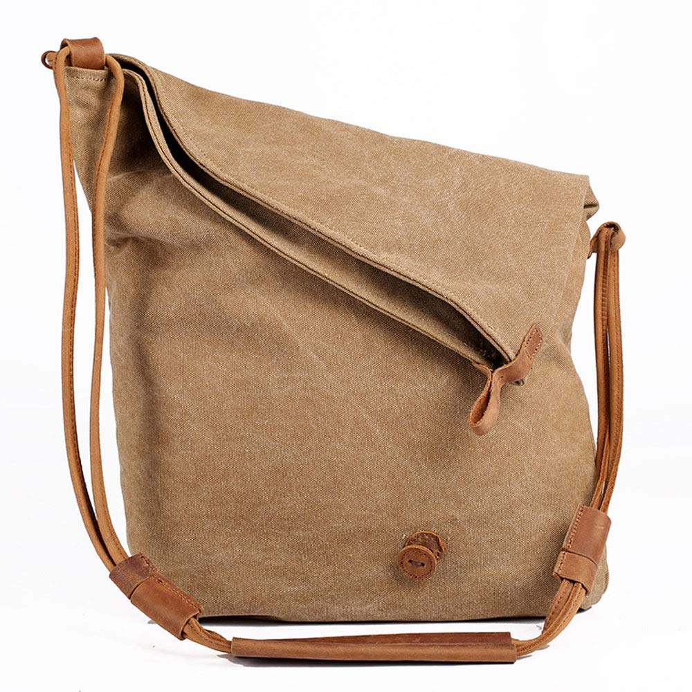 SeSDY Personality Canvas Messenger Bag Fashion Shoulder Bag Messenger Bag Handbag Shoulder Wallet Folding Bag Men and Women Cloth Bag Color : Green
