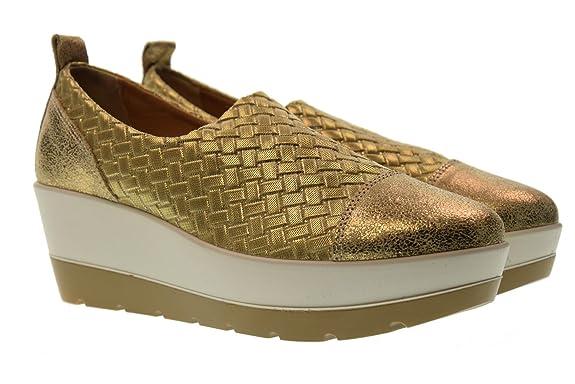 a5dd0031e6a IGIamp Co Zapatos de Mujer con Cuña 1145111 Oro HrA7U - perfidy ...