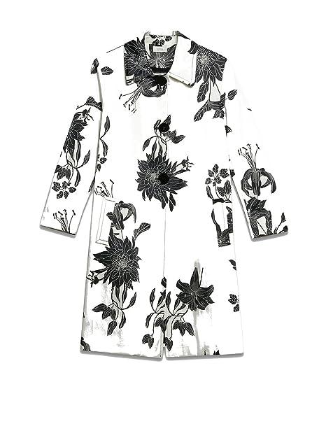 Oltre   Trench a Fantasia Floreale Bianco 42 (Italian Size)  Amazon.it   Abbigliamento 2108a4b04d1