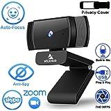 NexiGo AutoFocus 1080p Webcam with Microphone and Privacy Cover, Noise Reduction, HD USB Web Camera, for Online Class, Zoom Meeting YouTube Skype FaceTime Hangouts, PC Mac Laptop Desktop