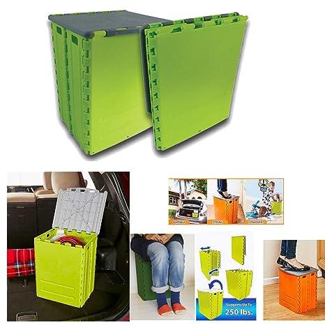 Taburete caja plegable almacenaje silla camping cajon ...