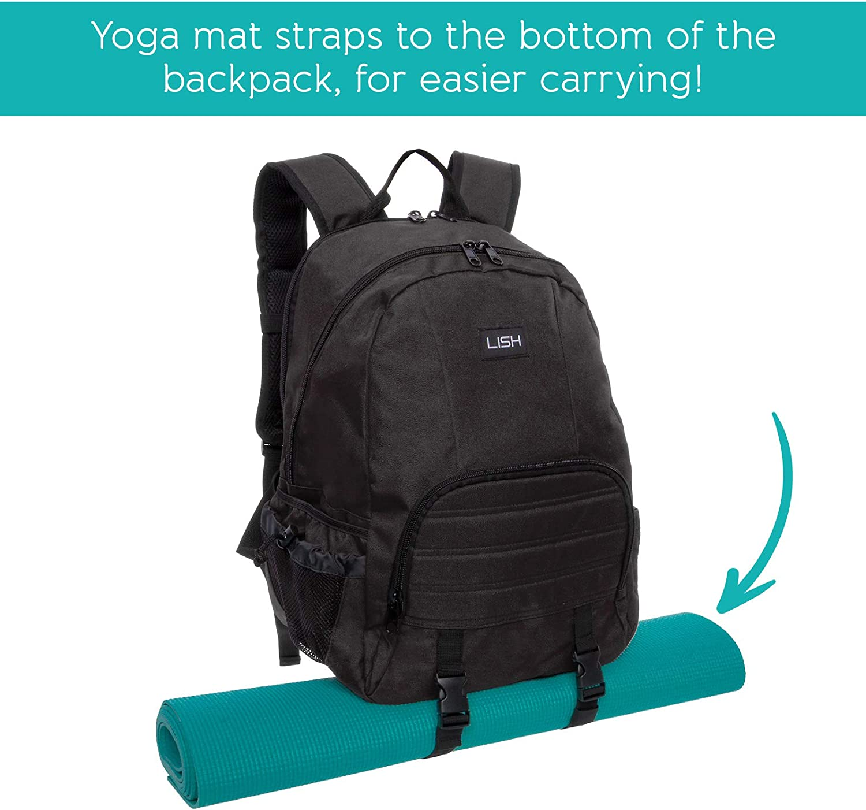 Amazon.com: LISH Vinyasa - Mochila para esterilla de yoga ...