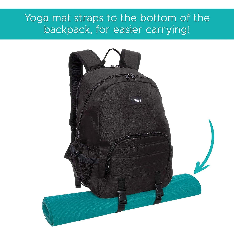 Amazon.com   LISH Vinyasa Yoga Mat Backpack - Multipurpose Lightweight Gym  Tote Bag (Black)   Sports   Outdoors ca11eafb30ecb