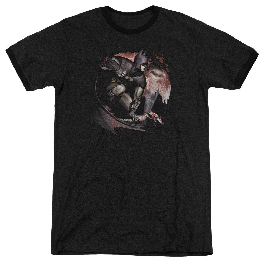 Shirt M Blood Moon Adult Ringer T Sons of Gotham Arkham City