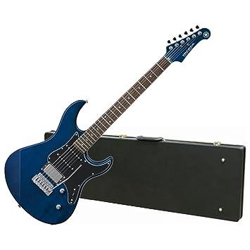 Yamaha pac612viifm TLB edición limitada llama arce Top Guitarra eléctrica (translúcido azul) W/Carcasa rígida: Amazon.es: Instrumentos musicales