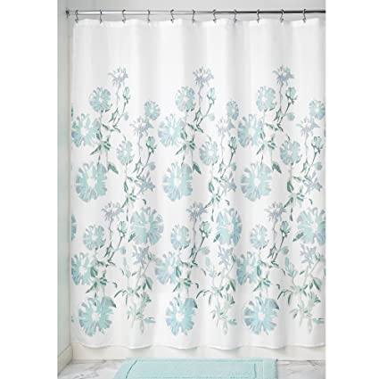 InterDesign Azalea Soft Fabric Shower Curtain 72quot X Mint Slate