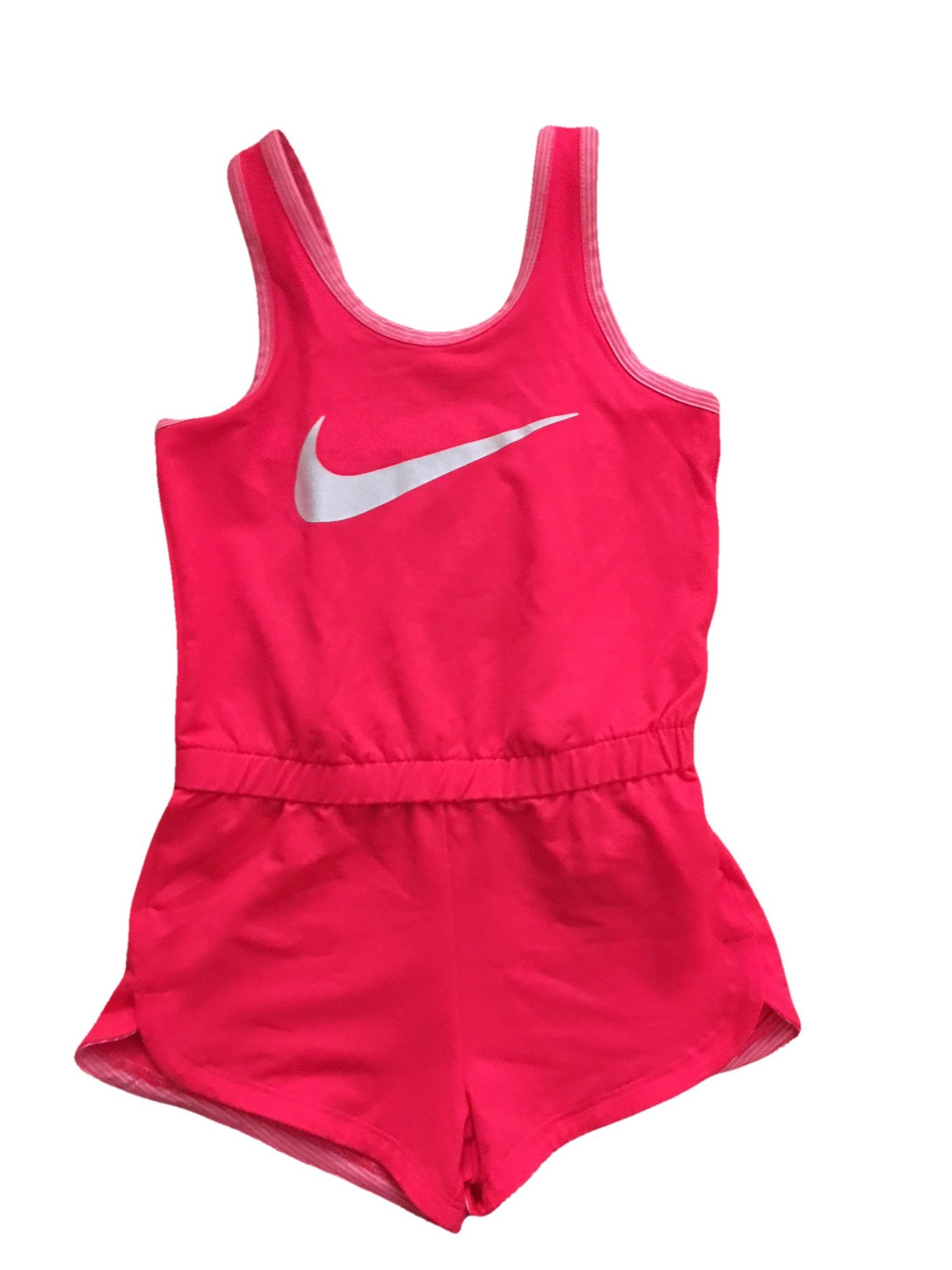 NIKE Infant Toddler Girls Dri-Fit Sports Romper Dark (Hot Pink, 2T)