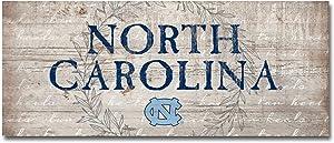 NCAA Legacy North Carolina Tar Heels Mini Table Top Stick 2.5x6, One Size, Wood