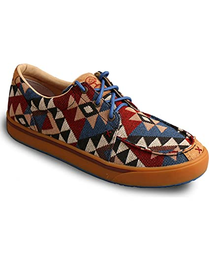 3df77b10416 Twisted X Hooey Casual Shoes Mens Lopers Graphic Lace Up 7 M Multi MHYC006