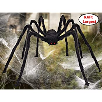 aiduy outdoor halloween decorations scary giant spider fake large spider hairy spider props for halloween yard