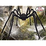 Amazon Com Joyin Halloween Outdoor Decorations Hairy Spider Black