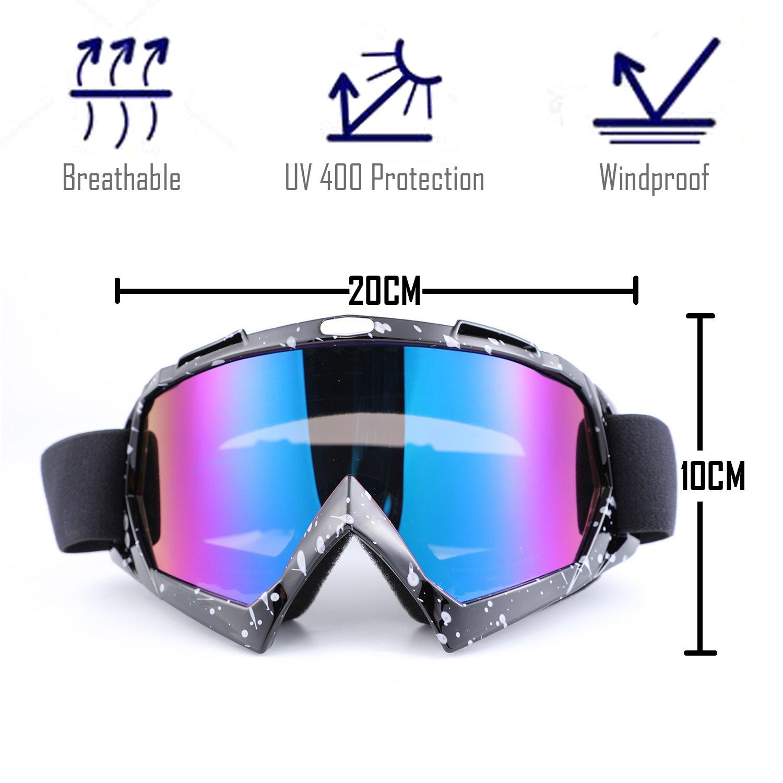 Seeu – Gafas de esquí para hombre Mujer Gafas de Motocicleta ...