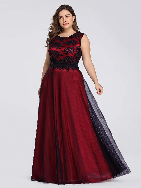 Ever-Pretty Women\'s A-Line Floral Lace Appliques Floor ...