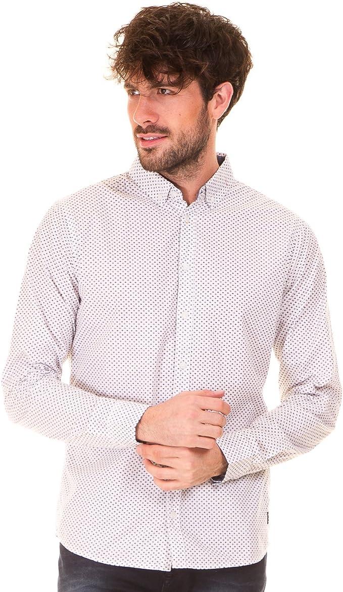 Camisa blanca estampada hombre de Blend (M - Blanco): Amazon.es: Ropa y accesorios