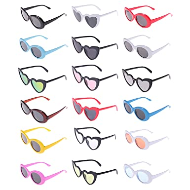 853fa9a754 Xgood 10 Pieces Clout Goggles Oval Retro Sunglasses   8 Pieces Heart Shaped  Goggles Love Heart