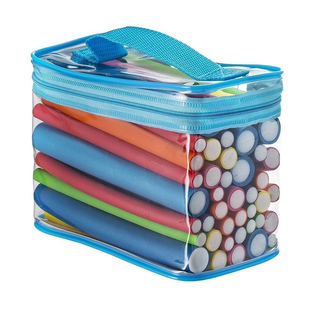 Pinkiou 42 Pack Twist-flex Rods 7 Sizes Flexible Curl Sponge Flexi Hair Roller Set Hair Foam Curler Hot Roller Set(Random Color)