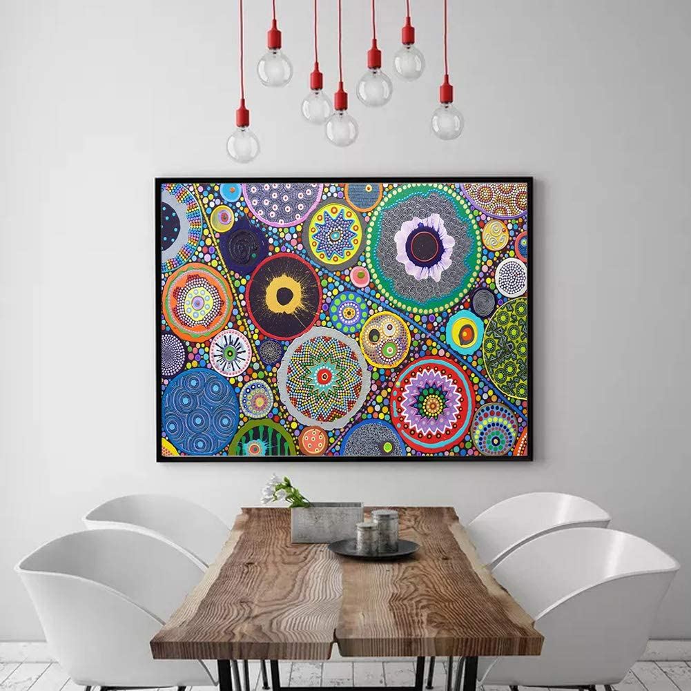 5d Diamond Painting Kits Full Round Drill Rhinestone Pictures for Home Wall Decor 12x16Inch Color Bubbles