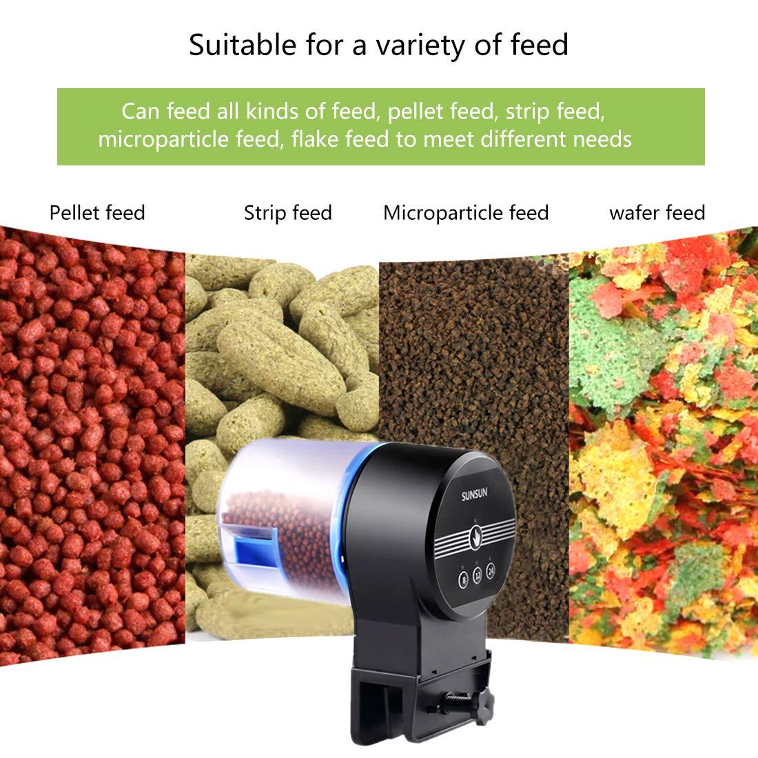 Iseebiz Automatic Tank Feeder Koi Goldfish Feeder Aquariums Moisture-Proof Intelligent Timing Feeding Machine, 2 Fish Food Dispenser. by Iseebiz (Image #4)