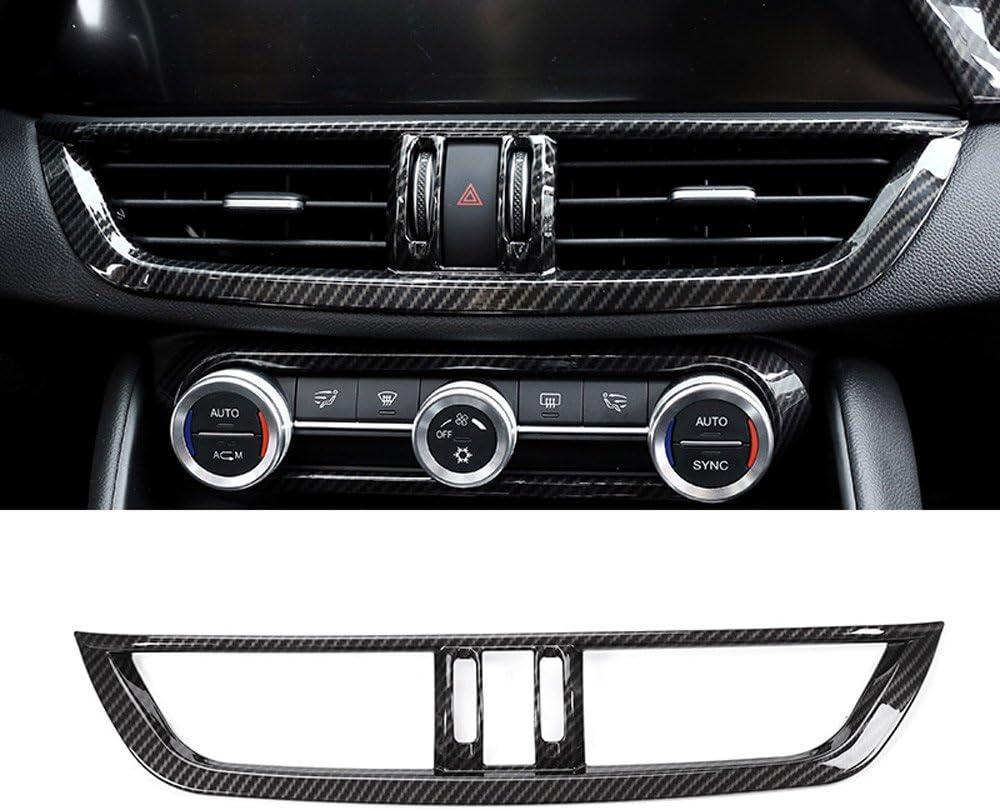 Karbonfaser Für Giulia 2017 2018 Abs Kunststoff Innenraum Mittelkonsole Klimaanlage Lüftungsgitter Rahmen Verkleidung Auto