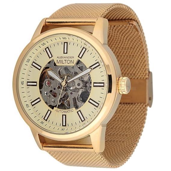 Alexander Milton reloj automático, acero inoxidable – MODELE Kronos – Dore/Milanaise