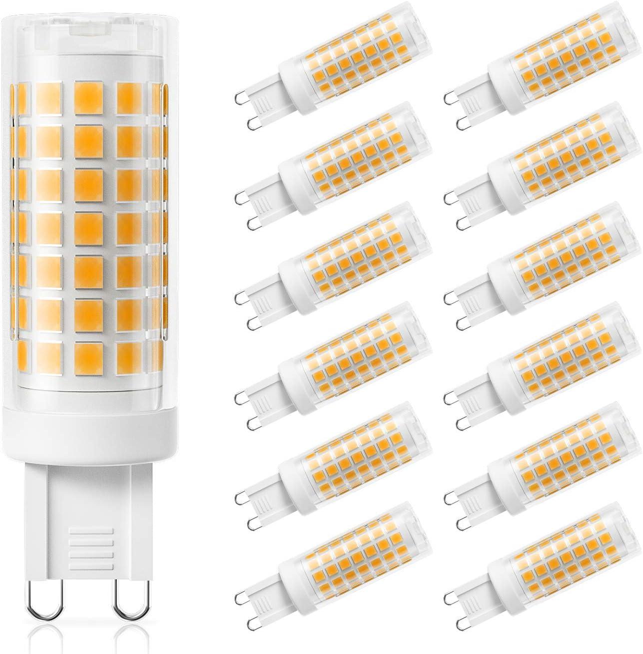DiCUNO G12 LED Bulb Dimmable, 12W 12W Halogen Equivalent, 1230LM, Warm White  12K 12V Bi Pin Ceramic Base Light Bulbs for Chandelier, Home Lighting ...