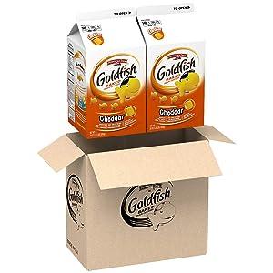 Pepperidge Farm Goldfish Cheddar Crackers, 60 oz. Box, 2 Count 30 oz. Cartons