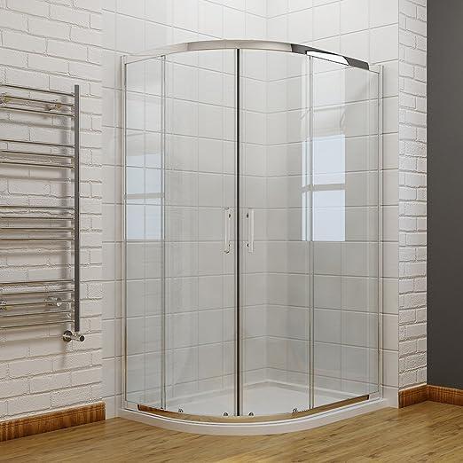 Cuadrante 6 mm puerta corredera mampara de baño de cristal con ...
