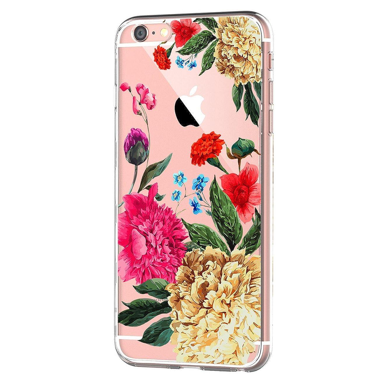 Funda iPhone 6/6S Carcasa Silicona Transparente Protector TPU Ultra-Delgado Anti-Arañ azos Hermoso Spring Flores Case para Telé fono Apple iPhone 6/6S Plus Caso Caja