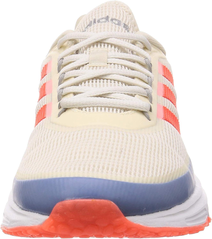 adidas Quadcube, Chaussures de Course Homme Multicolore Blanc Craie Rouge Solaire Bleu Gloire