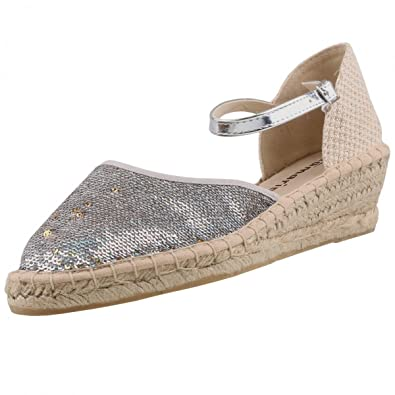 Tamaris Damen Keil-Sandaletten Silber, Schuhgröße:EUR 41