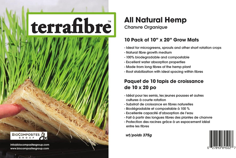 Amazon.com: Alfombra de cultivo de cáñamo Terrafibre ...