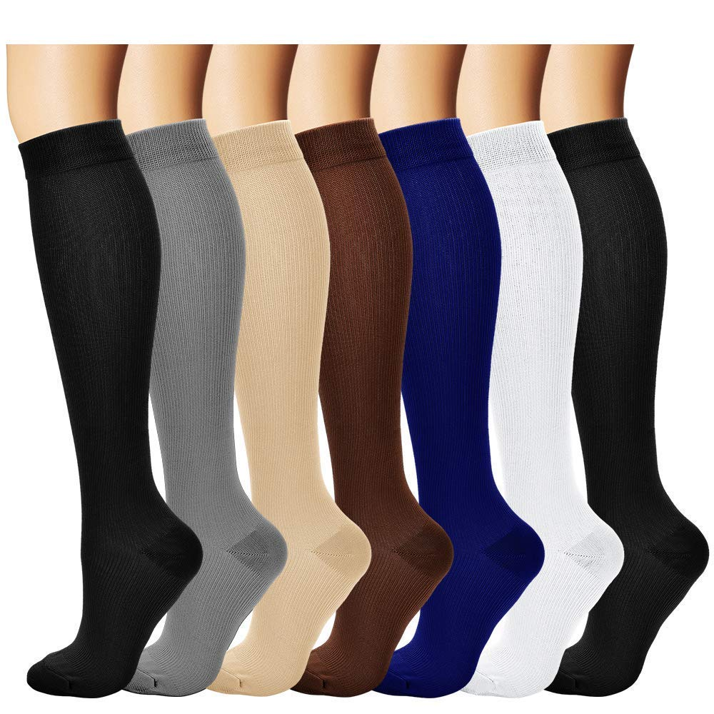 2f52a52b82 Bluemaple Compression Socks,(3or7pair) for Women & Men - Best for Running,