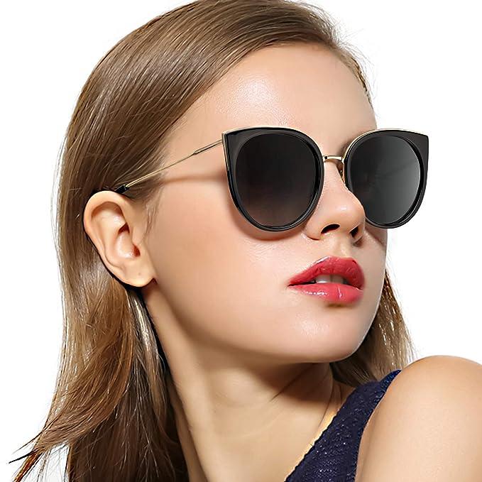 b58786827 Amazon.com  RazLiubit Oversized Cat Eye Sunglasses for Women