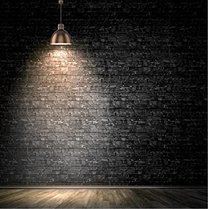 amazon com 10x10 ft black brick wall background lamp light vintage