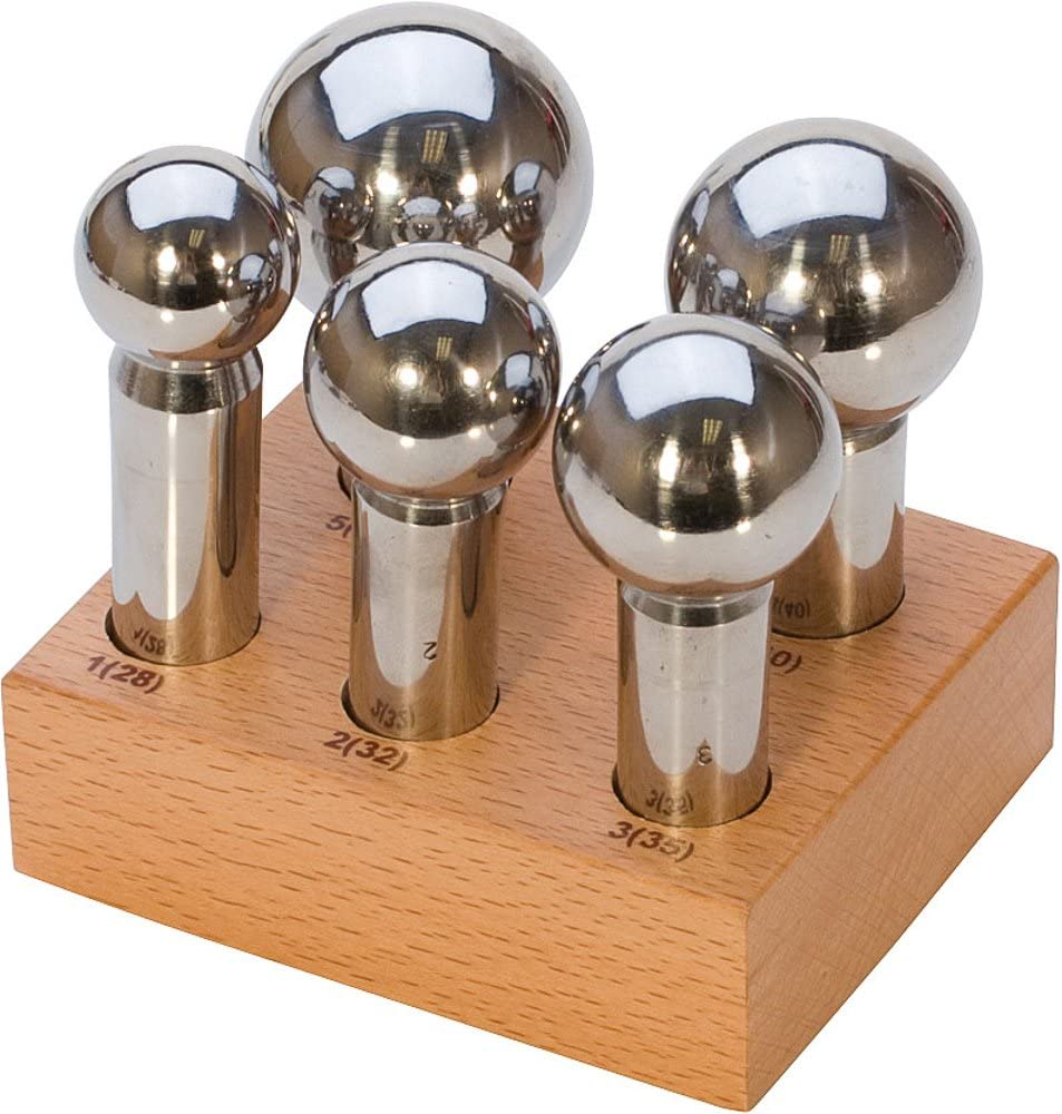 Cheap mail order specialty store 5pc Large Punch Don't miss the campaign Set w 28mm-45mm wood Stand - DAP-725.00