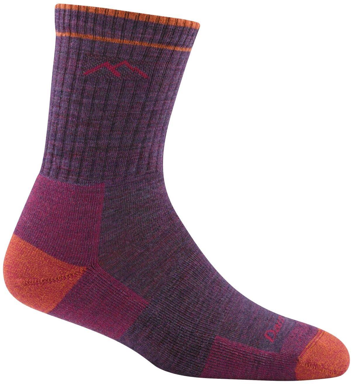 Darn Tough Hiker Micro Crew Cushion Socks - Women's Plum Heather Small by Darn Tough