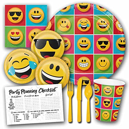 Amazon Honey Dew Gifts Emoji Smiley Face Theme Birthday Party Supplies Set