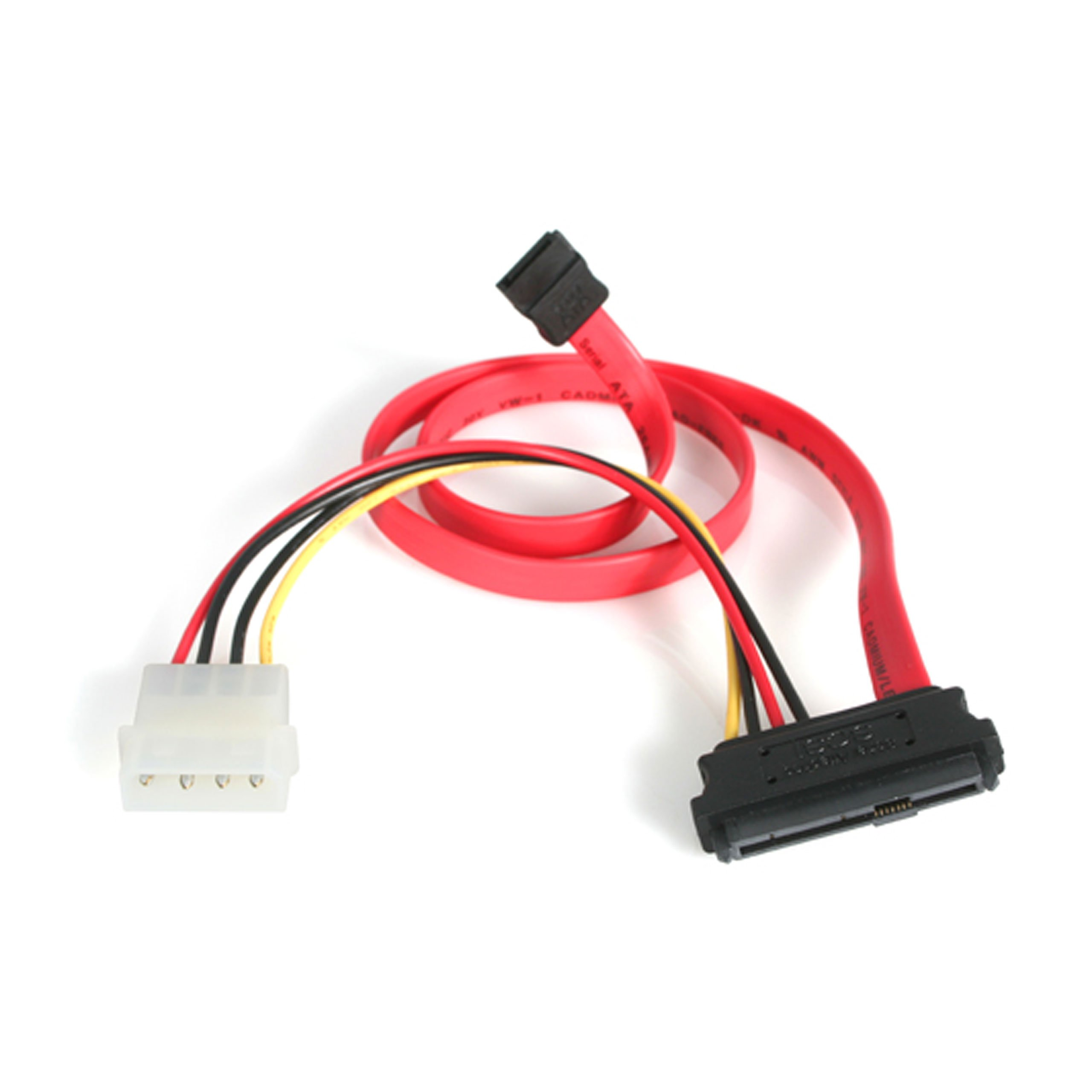 StarTech.com 18in SAS 29 Pin to SATA Cable with LP4 Power - 18in SAS 29 pin to SATA Cable - 18in SFF 8482 to SATA (SAS729PW18) by StarTech