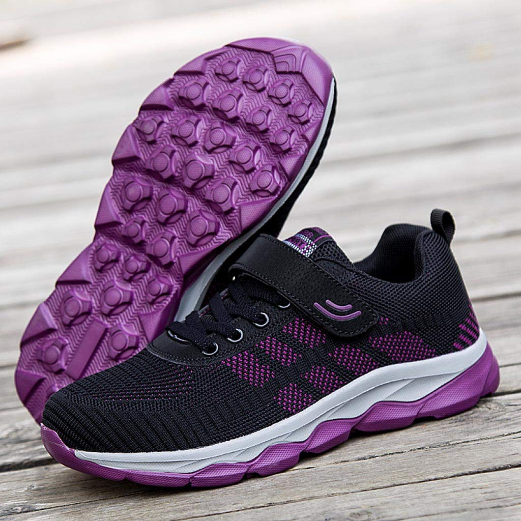 Moonker Womens Arch Support Sneakers Wide Width Running Shoes Ladies Girls Fashion Anti-Skid Casual Shoes