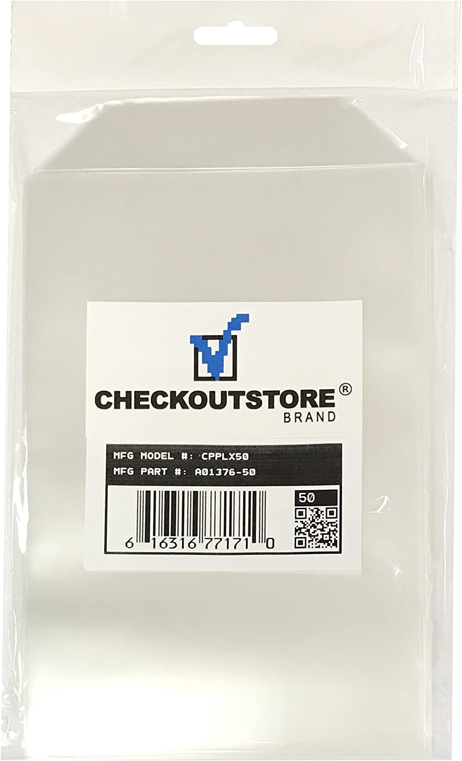 100 Checkoutstore Clear Storage Pockets (5 5/8 X 8 1/2)