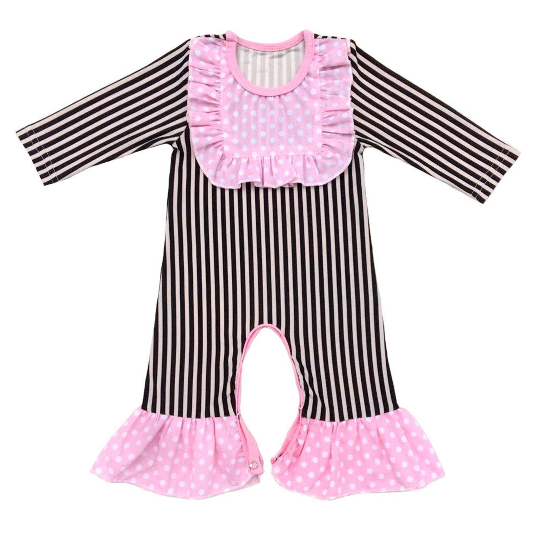 Evan Fordd Baby Girls Ruffled Romper Baby Girls Thanksgiving Leg Romper Ruffle Pants