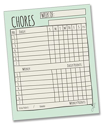 daily household chores checklist
