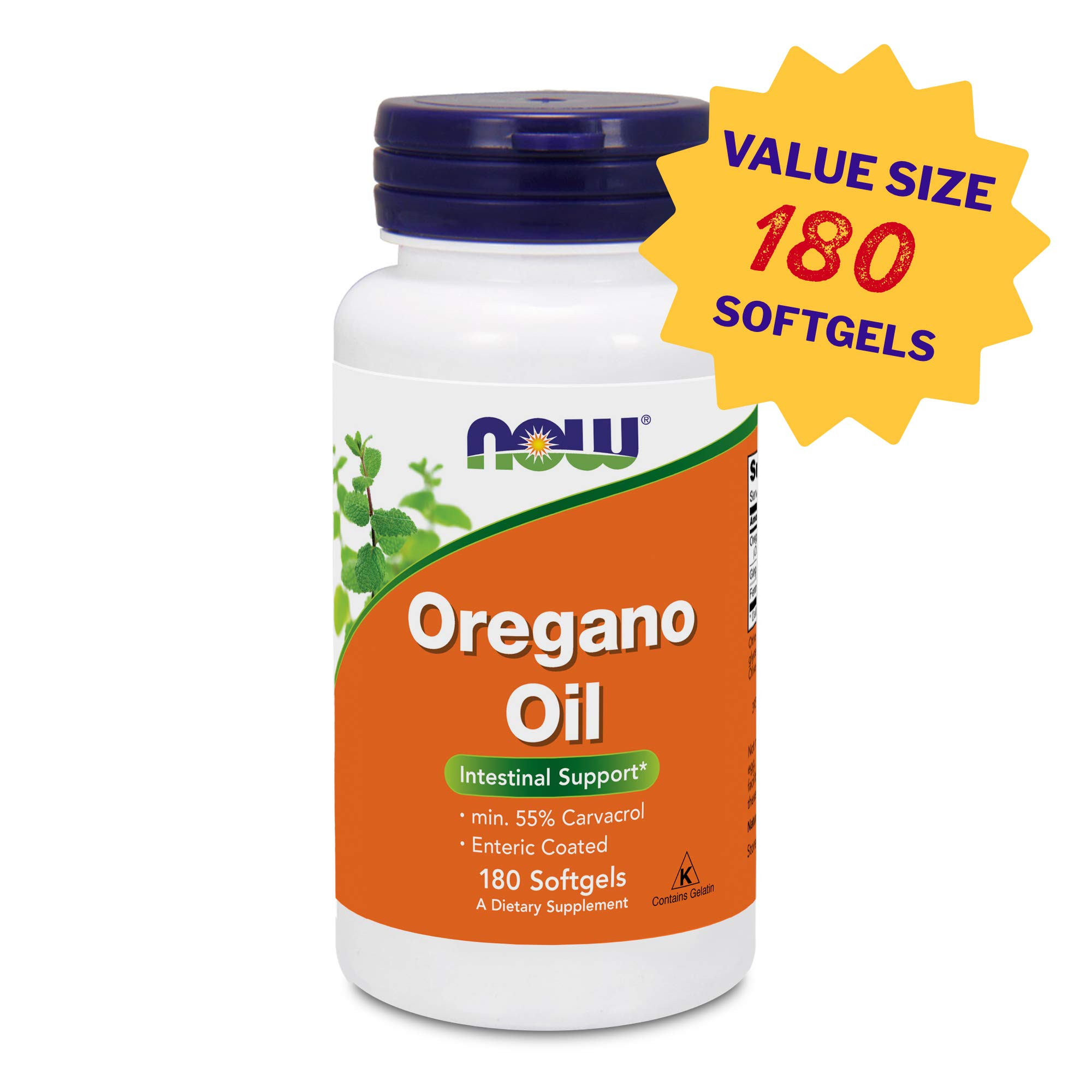 Now Foods Oregano Oil, 180 Softgels, Amazon Exclusive Value Size, High Potency Immune & Digestive Support Supplement, Natural Antibiotic – Gluten Free (180)