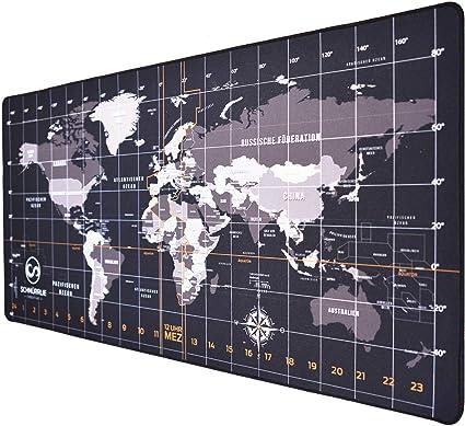 Schnurrlie Schreibtischunterlage Weltkarte Deutsch