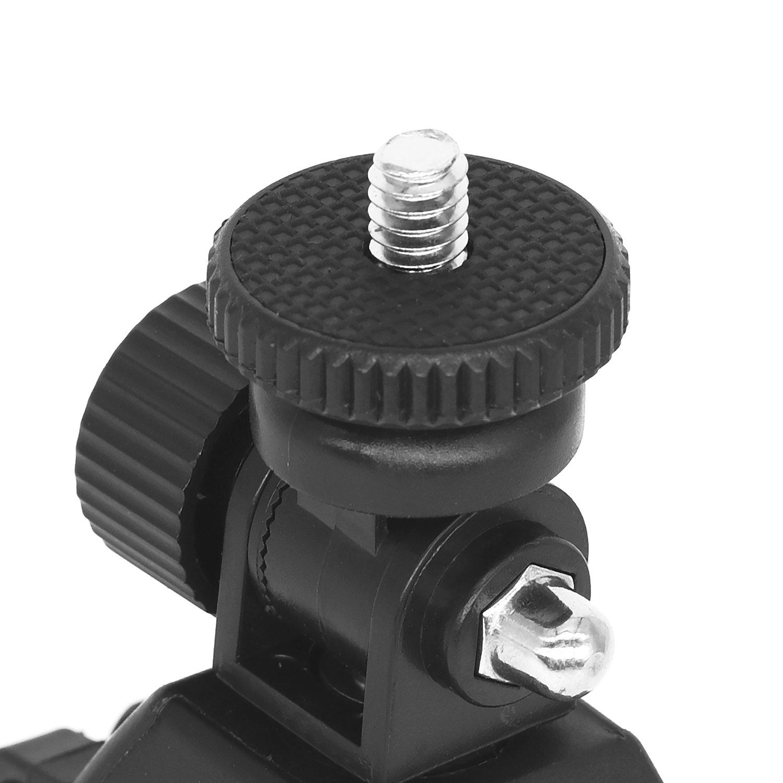 Monitor C/ámara Super Clamp Barra de tubo de liberaci/ón r/ápida Abrazadera de bicicleta con 1//4-20 Cabeza roscada para c/ámara DSLR Motocicleta Ipad DV para Ipad Mount