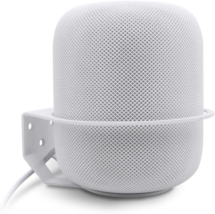 Wall Mount Compatible Apple HomePod, ALLICAVER Sturdy Metal Made Mount Stand Holder Compatible Apple HomePod. (White)