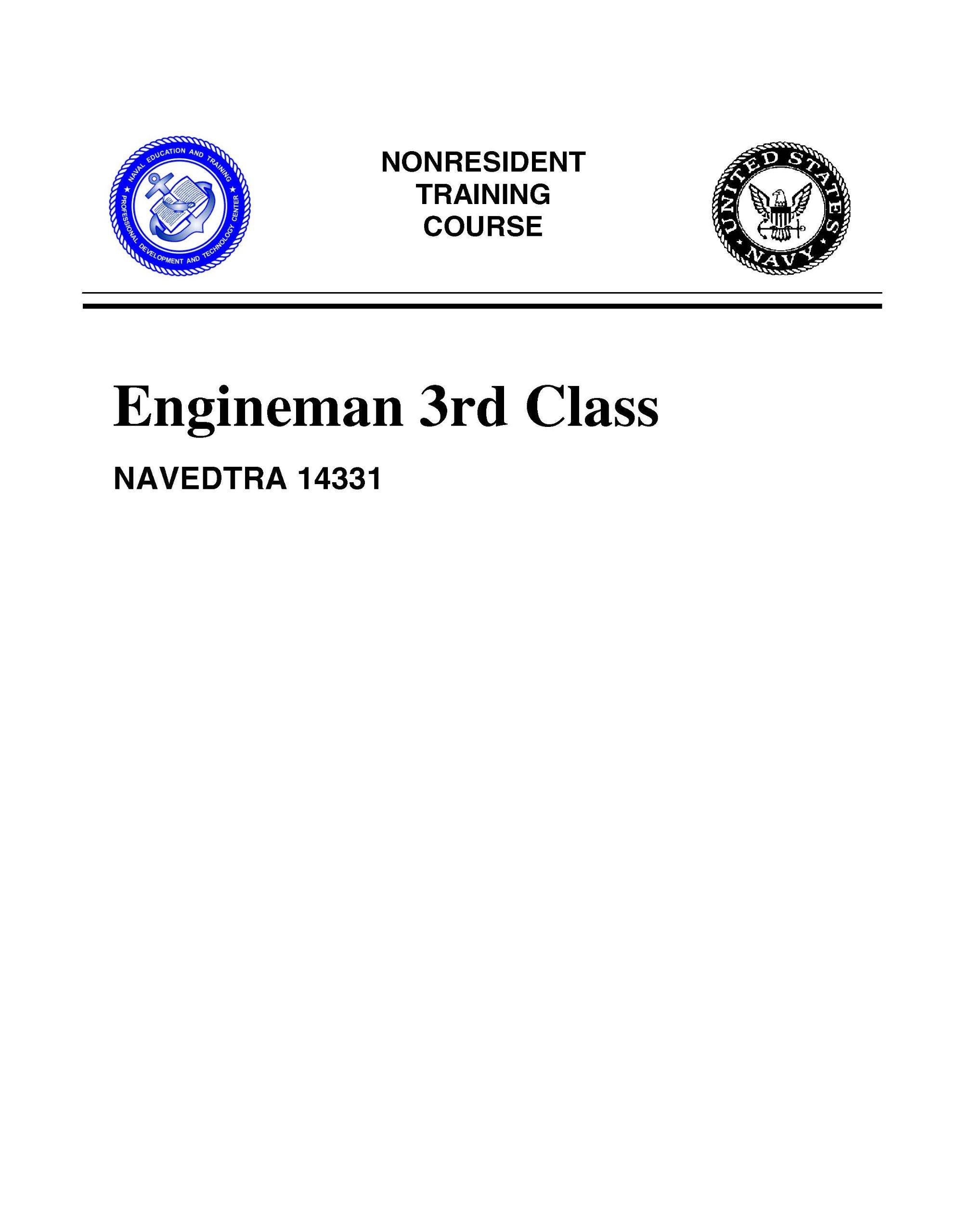 Engineman 3 NAVEDTRA 14331 (Nonresident Training Course) ebook
